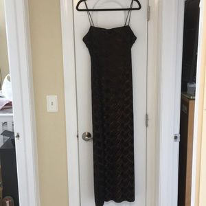 Black and copper Long evening gown
